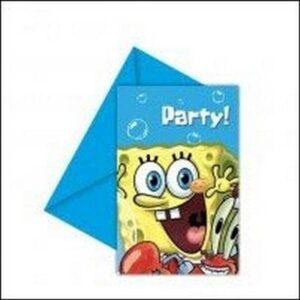 Inviti per festa Spongebob