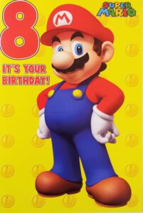 Biglietto Auguri XL Super Mario 8 anni