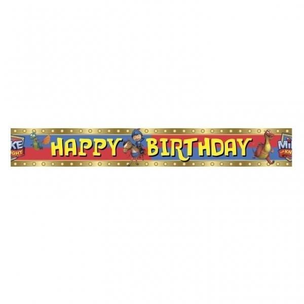 Festone Happy Birthday Mike il Cavaliere