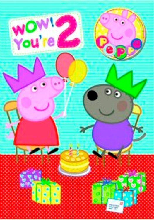 Auguri Compleanno Peppa Pig 2 anni
