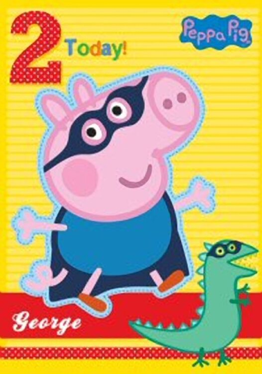 Auguri Compleanno George Peppa Pig 2 anni