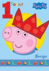Auguri Compleanno George Peppa Pig 1 anno