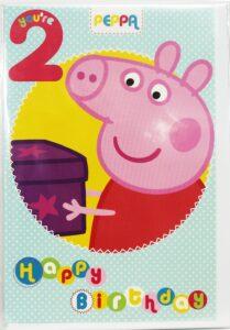 Biglietto Auguri XL Peppa Pig 2 anni