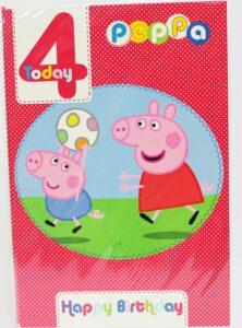 Biglietto Auguri XL Peppa Pig 4 anni