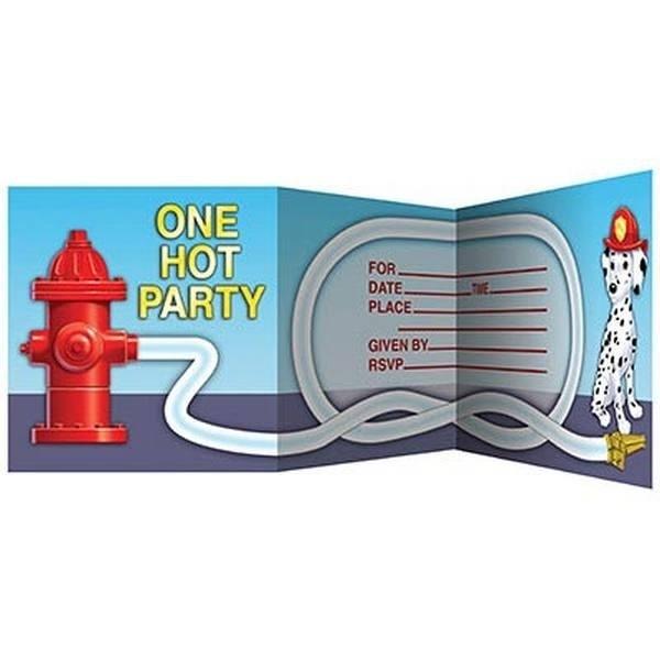 Inviti per festa Pompieri