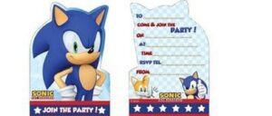 Inviti festa Sonic The Hedgehog