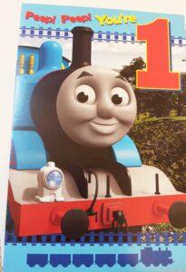 Biglietto Auguri XL Trenino Thomas 1 anno