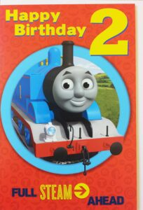 Biglietto Auguri XL Trenino Thomas 2 anni