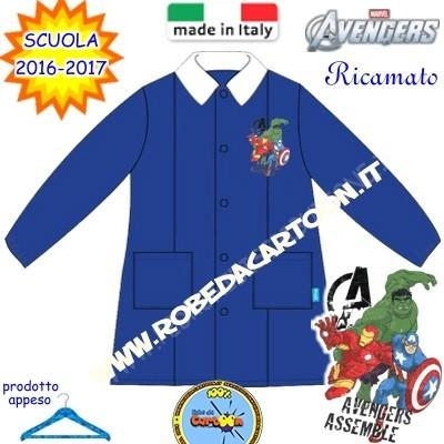 Grembiule scuola elementare Marvel Avengers blu