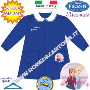 Grembiule scuola elementare Disney Frozen blu