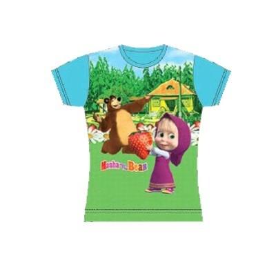 T-shirt Masha e Orso Full Print
