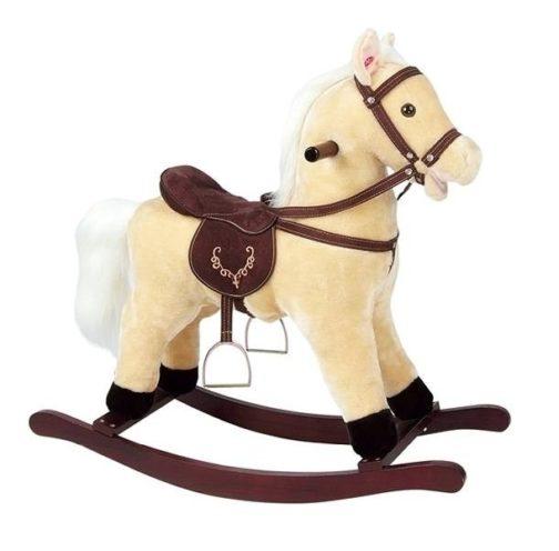 Cavallo a dondolo in legno Leomark