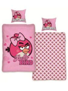 Parure copripiumino reversibile Angry Birds Pink