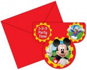 Inviti sagomati per festa Mickey and Friends
