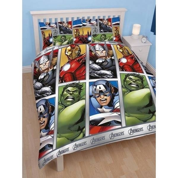 Parure copripiumino matrimoniale Avengers