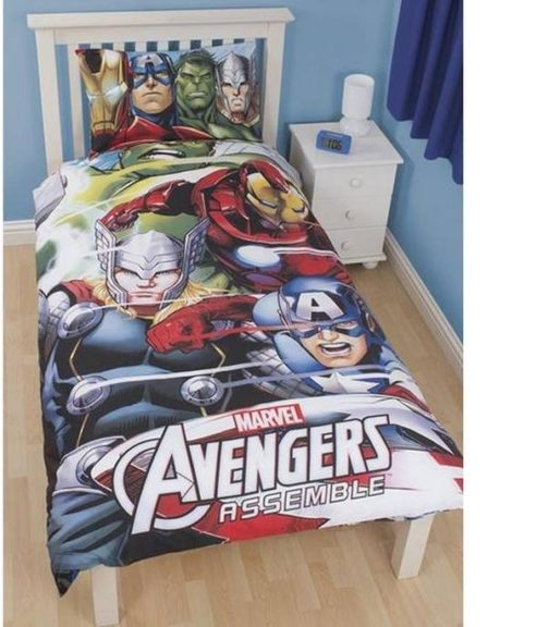 Parure copripiumino singolo reversibile Avengers 3D