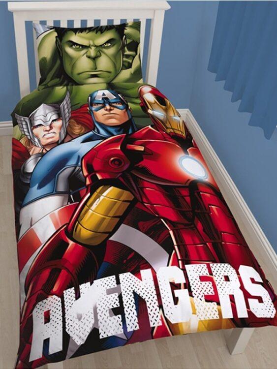 Parure copripiumino singolo Marvel Avengers Shield