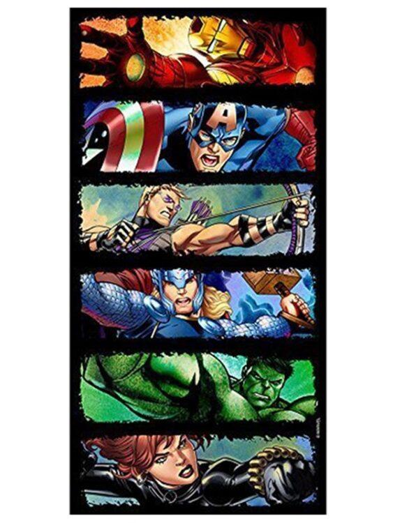 Asciugamano telo mare Avengers Comic Strip