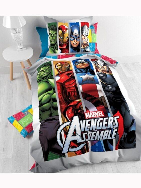 Parure copripiumino singolo Marvel Avengers 100% cotone
