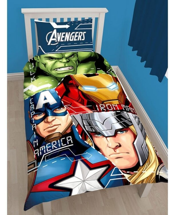 "Parure Copripiumino singolo Marvel Avengers ""Tech"""