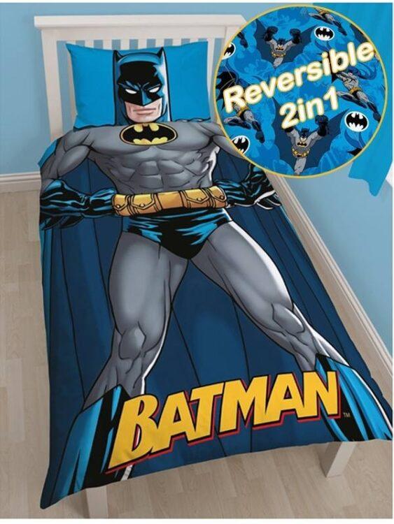 Parure Copripiumino Singola reversibile Batman Shadow