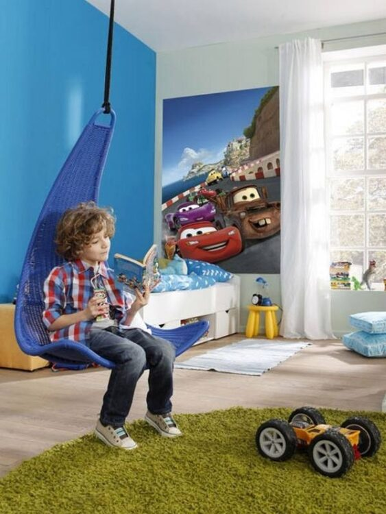 "Fotomurale Disney Cars ""Italy"" 127cm x 184cm"