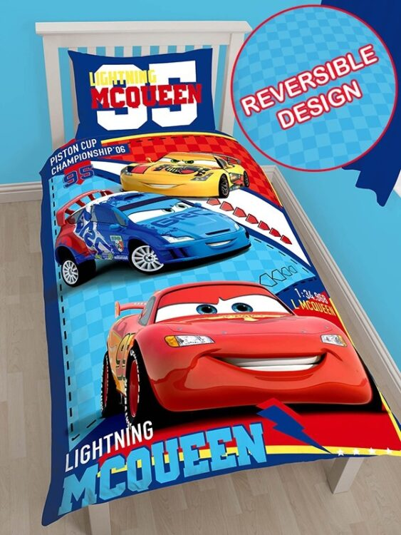 Parure copripiumino singolo Disney Cars Piston Cup