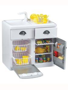 Set Cucina giocattolo con Lavandino, frigorifero, lavastoviglie