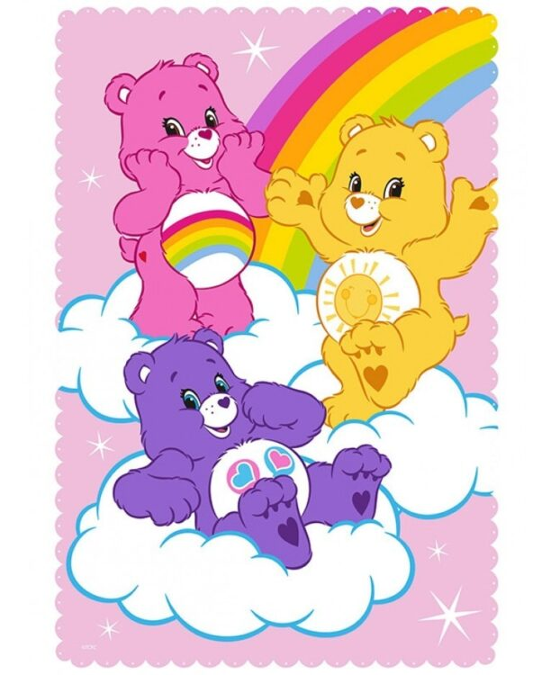 Plaid Pile Care Bears Share