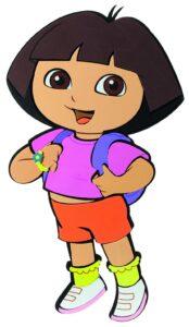 Adesivo da parete Dora l'Esploratrice
