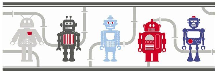 "Bordo adesivo ""Robots"" 5mt"