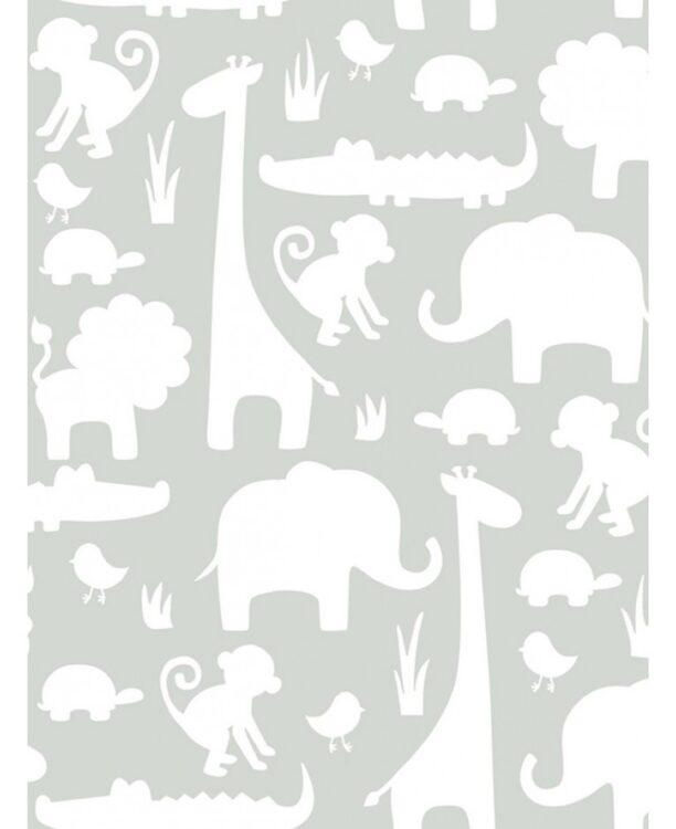 Carta da parati adesiva Jungle sfondo grigio