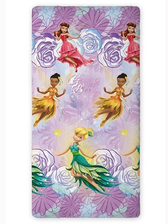 Lenzuolo di sotto con angoli per letto singolo Disney Fairies