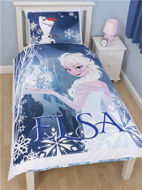 Parure copripiumino singolo reversibile Principessa Elsa