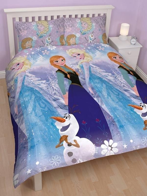 Copripiumino Matrimoniale Frozen.Parure Copripiumino Matrimoniale Disney Frozen Crystal Copripiumini