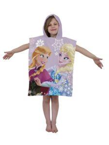 Accappatoio poncho con cappuccio Disney Frozen Crystal