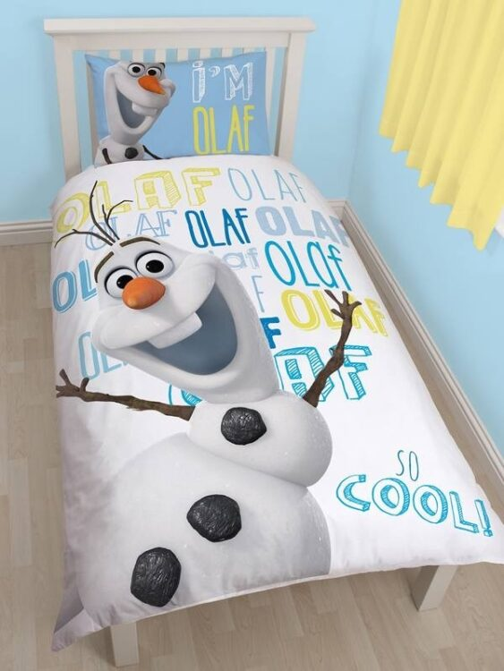Parure copripiumino singola reversibile Olaf Disney Frozen