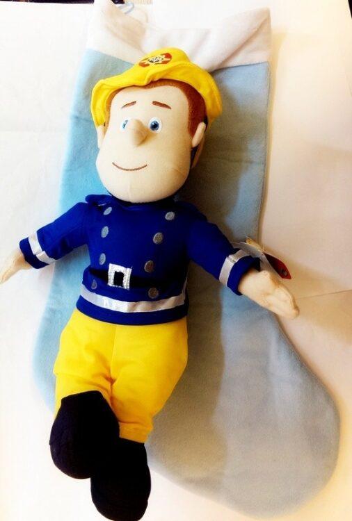 Maxi calza befana con peluche Sam il Pompiere