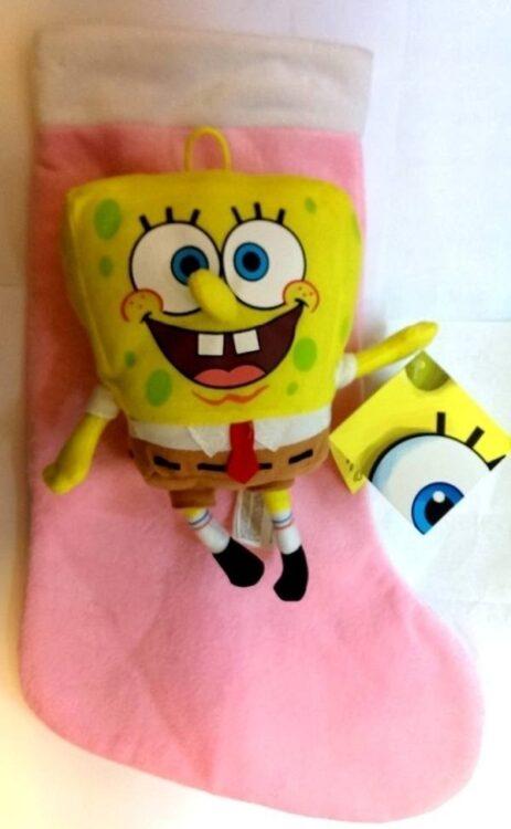 Calza befana con peluche Spongebob