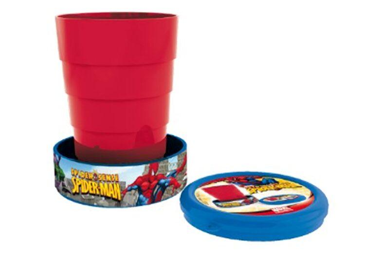 Bicchiere ripiegabile Spiderman