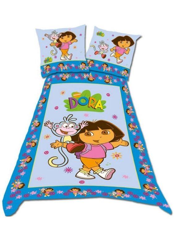Parure copripiumino singolo Dora l'Esploratrice Fiori
