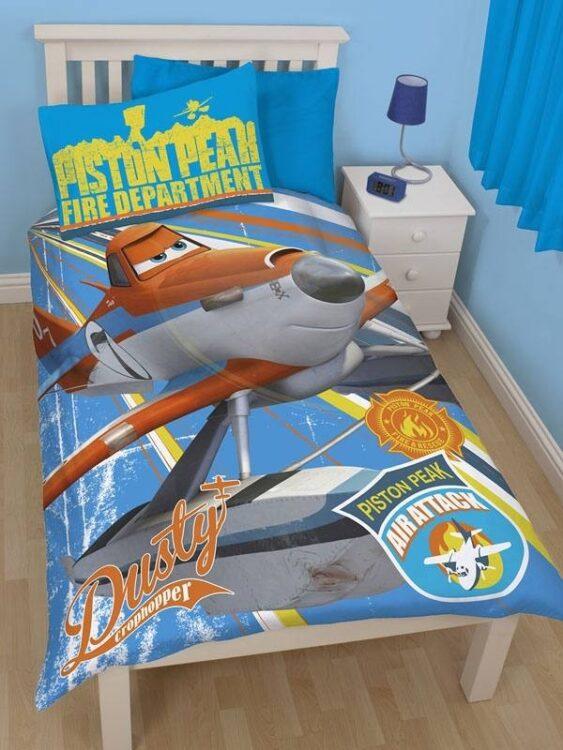 Parure copripiumino singolo Disney Planes Rescue