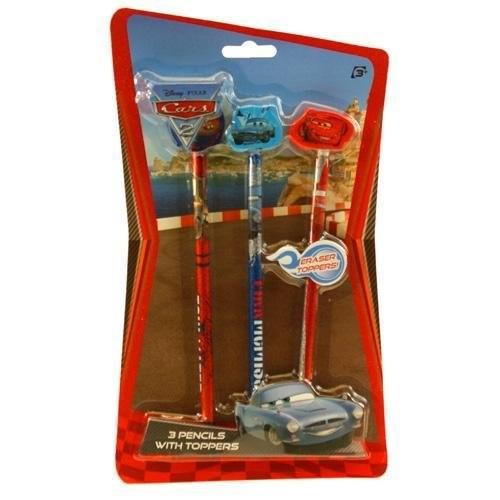 Blister 3 matite con gomme sagomate Disney Cars
