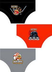 Set 3 slip bimbo Star Wars Angry Birds