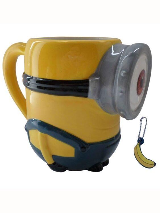Tazza mug 3D Minions Stuart con charm alla banana
