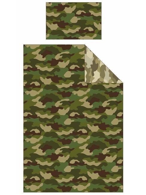 Parure copripiumino singolo reversibile Mimetica Militare