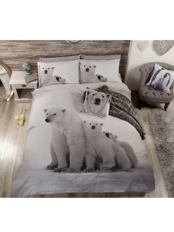Parure copripiumino singola Orsi Polari Family