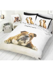 Parure copripiumino singolo double-face Barry Bulldog