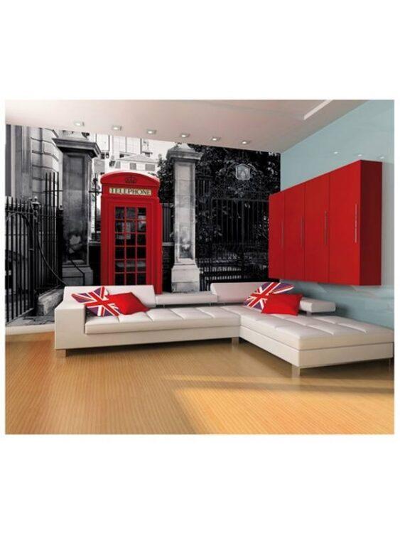 Fotomurale Cabina telefonica Londra 232 x 315cm