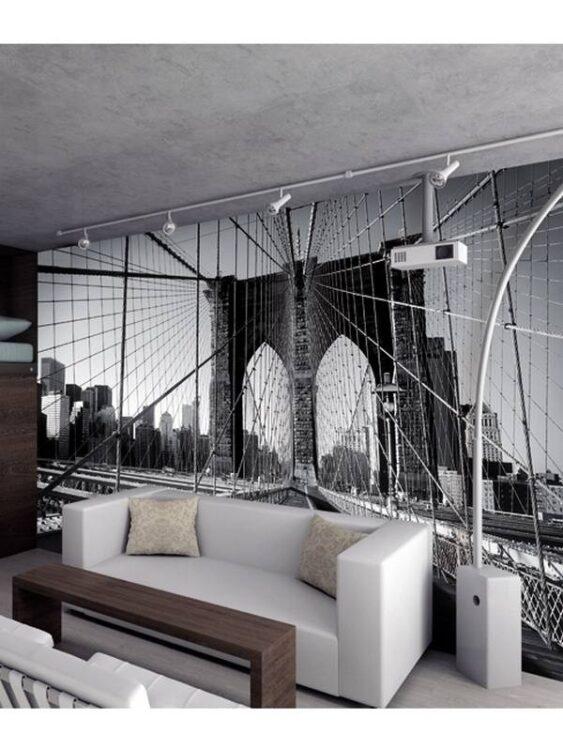 Fotomurale ponte di Brooklyn 232 x 315cm
